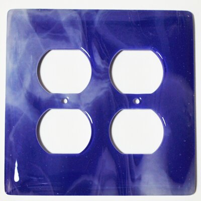 Swirl 2 Gang Receptical Wall Plate