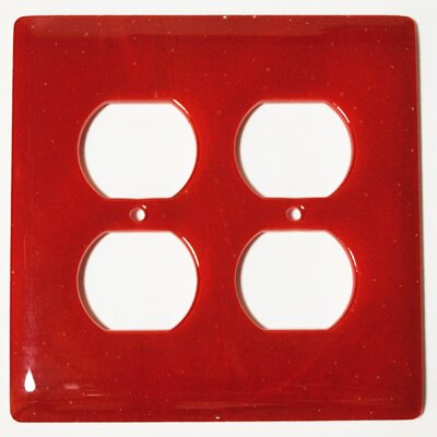 Solid 2 Gang Receptical Wall Plate