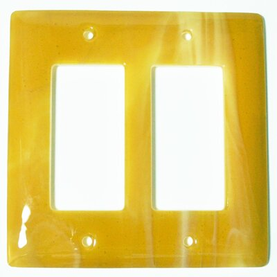 Swirl 2 Gang Decora Wall Plate Color: Amber