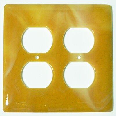 Swirl 2 Gang Receptical Wall Plate