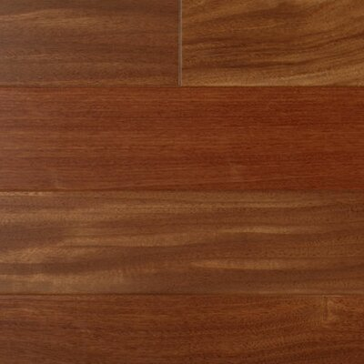 5 Engineered Santos Mahogany Hardwood Flooring in Brown