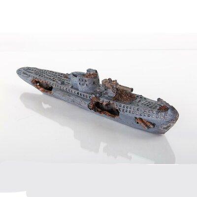 Decorative Sunken Model U-boat Aquarium Sculpture