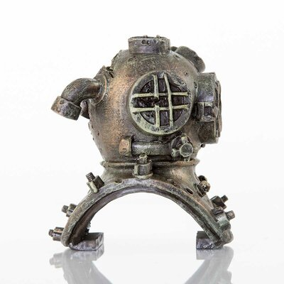 Decorative Old Dive Helmet Aquarium Sculpture
