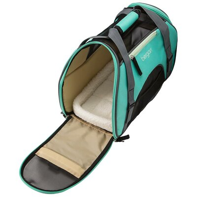 Comfort Pet Carrier Size: Small (11.5 H x 8 W x 17 L), Color: Teal