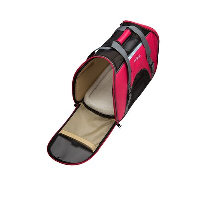 Comfort Pet Carrier Size: Large (13 H x 10 W x 19 L), Color: Pinkish Red