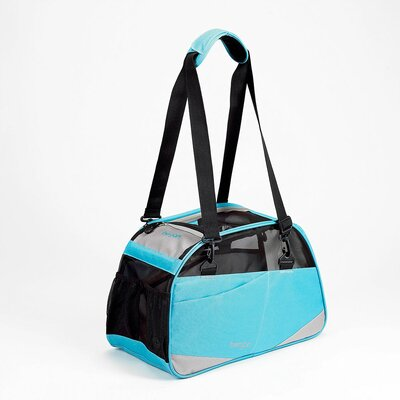 Voyager Pet Carrier Size: Medium/Large (13 H x 10 W x 19 D), Color: Air Blue