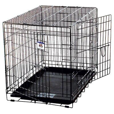 Pet Lodge Double Door Wire Crate in Black Size: Medium - 30 L x 21 W x 24 H