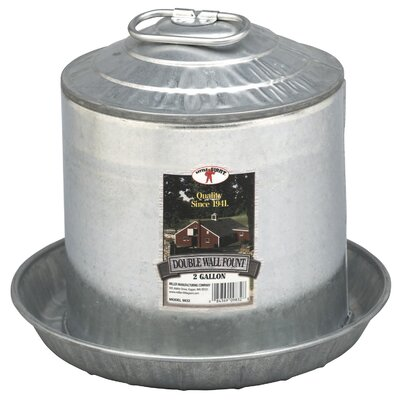 Double Wall Fount Size: 5 Gallon