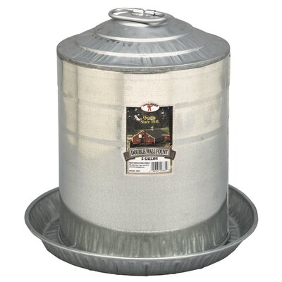 Double Wall Fount Size: 3 Gallon