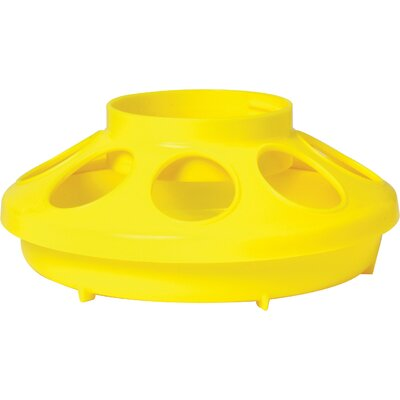 Chicken Feeder Base - 1 Quart Color: Yellow