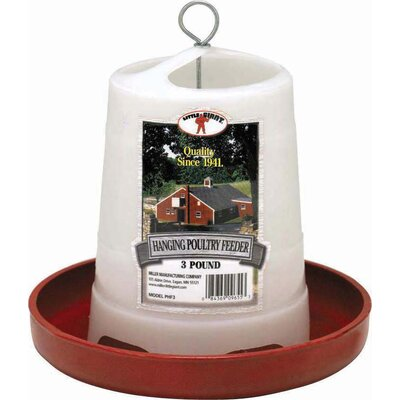 Plastic Hanging Poultry Feeder Size: 3 lbs