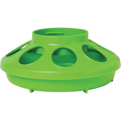 Chicken Feeder Base - 1 Quart Color: Green