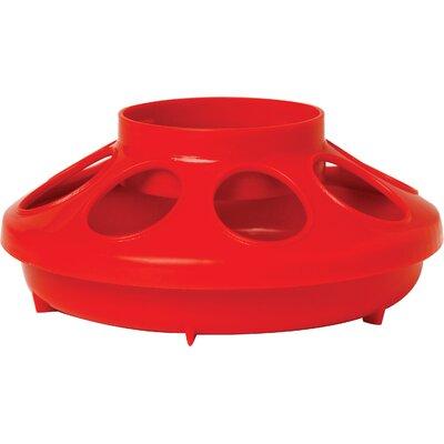 Chicken Feeder Base - 1 Quart (Set of 3) Color: Red