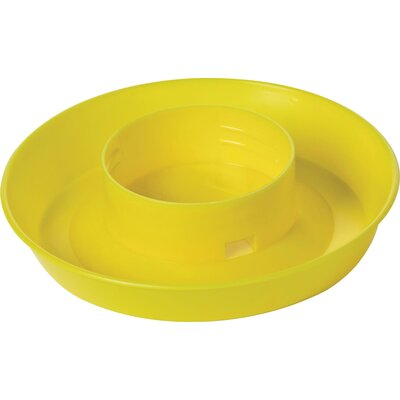 Screw On 1 Quart Poultry Water Base (Set of 5) Color: Yellow