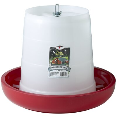 Plastic Hanging Poultry Feeder Size: 22 lbs