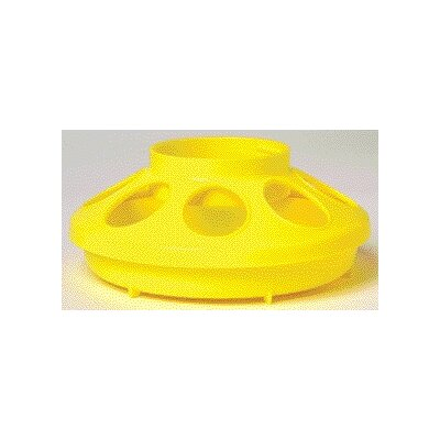 Chicken Feeder Base - 1 Quart (Set of 3) Color: Yellow