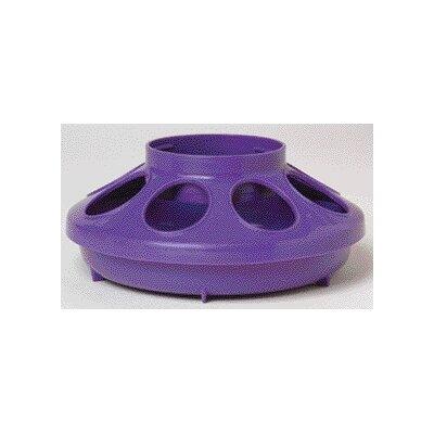 Chicken Feeder Base - 1 Quart (Set of 3) Color: Purple