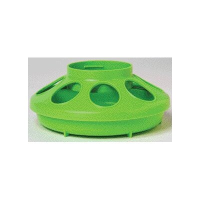 Chicken Feeder Base - 1 Quart (Set of 3) Color: Green