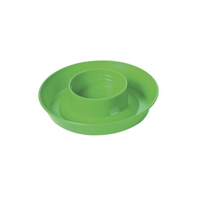 Screw On 1 Quart Poultry Water Base (Set of 5) Color: Green