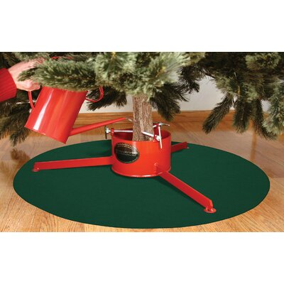 "Image of Christmas Tree Stand Mat Rug Size: 28"" x 28"""