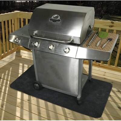 Charcoal Gas Portable Grill Mat Size: Extra large