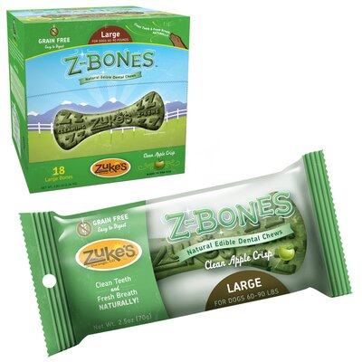 Zukes Z-Bone Natural Edible Dental Chew Dog Treat (Set of 18) at Sears.com