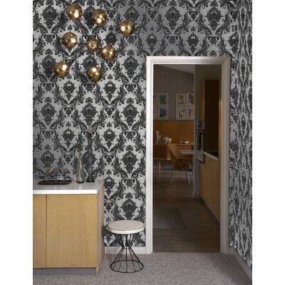 Glam room metallic wallpaperinterior design tips for Metallic removable wallpaper