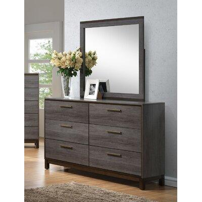 Fischer 6 Drawer Dresser with Mirror