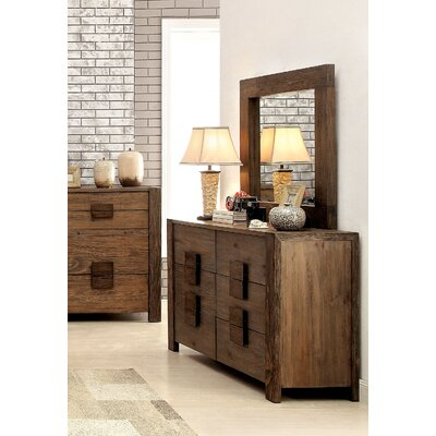 Hokku Designs Rivera 6 Drawer Dresser with Mirror