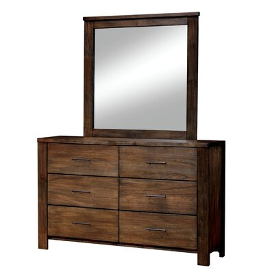 Zena 6 Drawer Dresser with Mirror