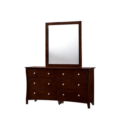 Joshua 6 Drawer Dresser with Mirror