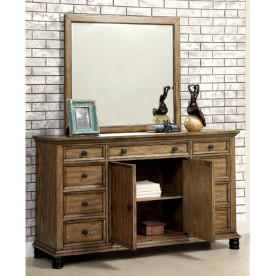 Zebadiah 9 Drawer Dresser with Mirror