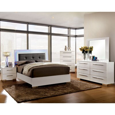 Lambda Upholstered Platform Bed