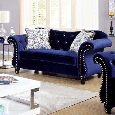 IDF-6159BL-LV XHX3018 Hokku Designs Yazmina Flannelette Loveseat Upholstery
