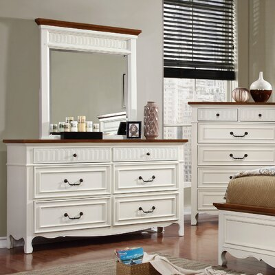 Fyfe 6 Drawer Double Dresser with Mirror