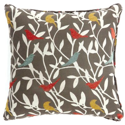 Meigs Perched Bird Throw Pillow Size: Small