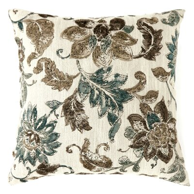 Lonie Jacobean Print Throw Pillow Size: Large