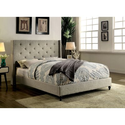 Kierra Contemporary Upholstered Platform Bed