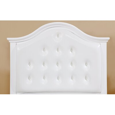 Eliot Upholstered Panel Headboard Size: Twin, Finish: White