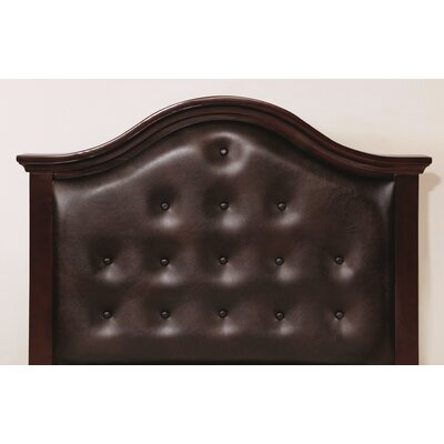 Eliot Upholstered Panel Headboard Size: Twin, Color: Espresso