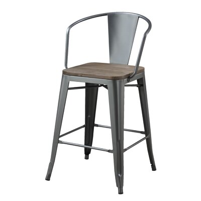 Reedley 25.5 Bar Stool Color: Gray