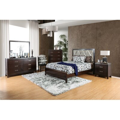 Lonny Contemporary Panel 4 Piece Customizable Bedroom Set