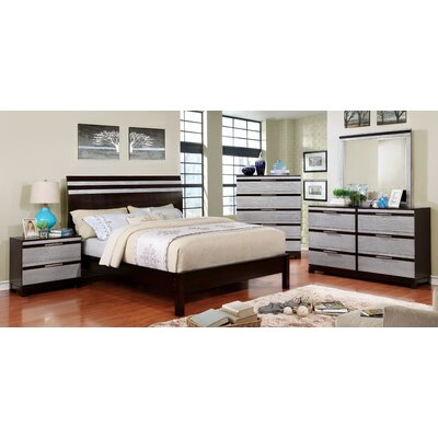 Caywood Contemporary Panel Bed