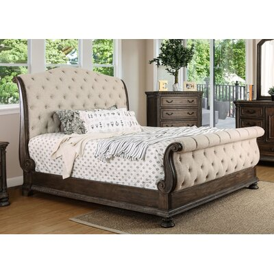 Murillo Transitional Upholstered Sleigh Bed