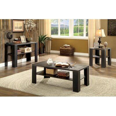 Kristle Transitional 3 Piece Coffee Table Set