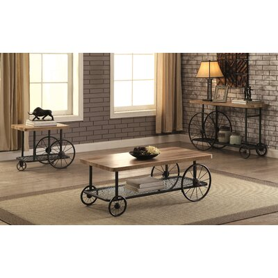 Springport Industrial 3 Piece Coffee Table Set