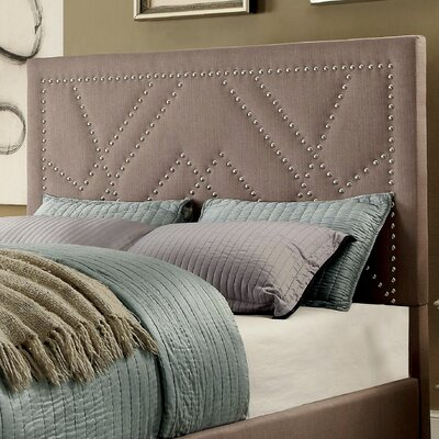 Ava Contemporary Upholstered Panel Headboard Size: Eastern King, Upholstery: Light Brown