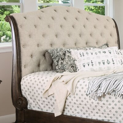 Murillo Transitional Upholstered Sleigh Headboard Size: Queen