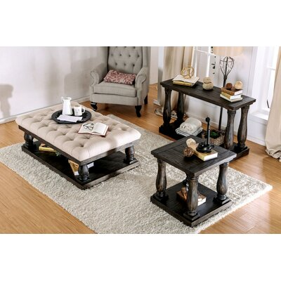 Althea Transitional Fabric 3 Piece Coffee Table Set