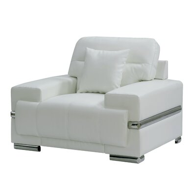 Tabitha Contemporary Armchair Upholstery: White